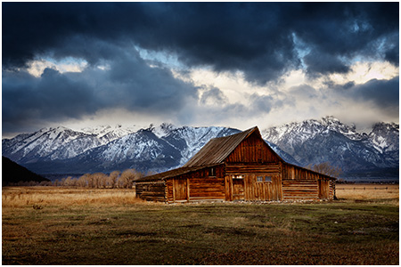 Barn and the Tetons