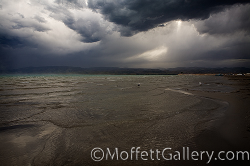 Thunderstorm approaching the beach at Bear Lake.